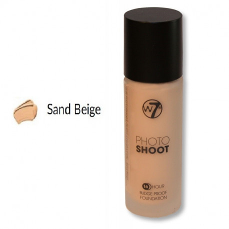 W7 16HR Photoshoot Glass Foundation 28ml - SAND BEIGE