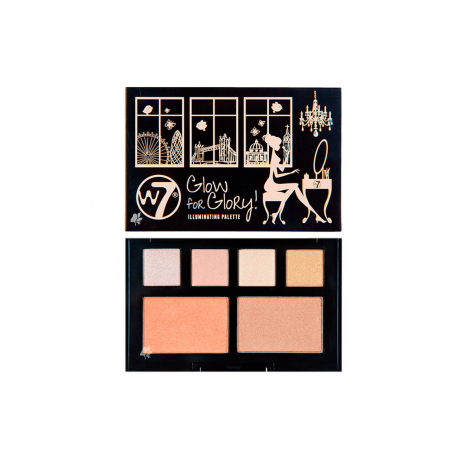 W7 Glow For Glory Illuminating Palette 5g