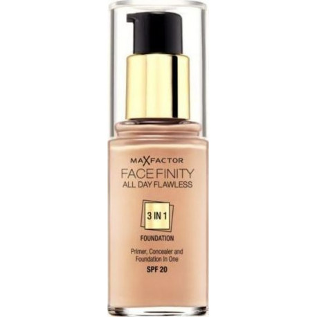 Max Factor Facefinity All Day Flawless 3 In 1 Foundation Golden 75 30ml SPF20