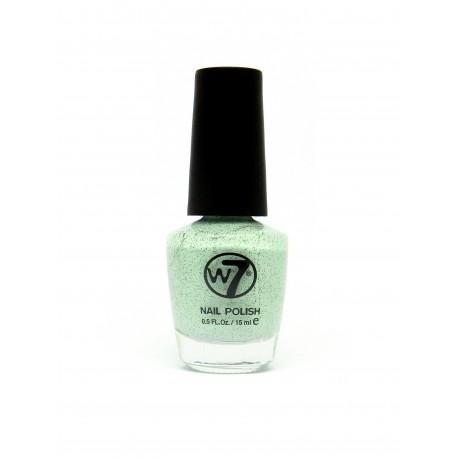 W7 Nail Polish (91) Speckled Mint 15ml
