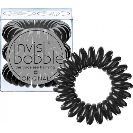 Invisibobble The Traceless Hair Ring λαστιχάκι για τα μαλλιά 3 τεμ True Black