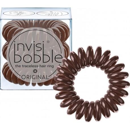 Invisibobble The Traceless Hair Ring λαστιχάκι για τα μαλλιά 3 τεμ Pretzel Brown