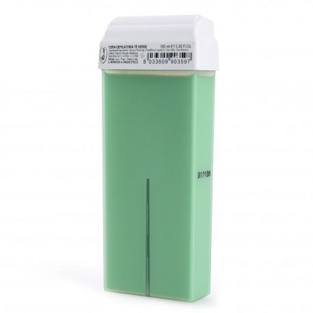 Roial Κερί Aποτρίχωσης Ρολλέτα Πράσινο Tσάι 100ml